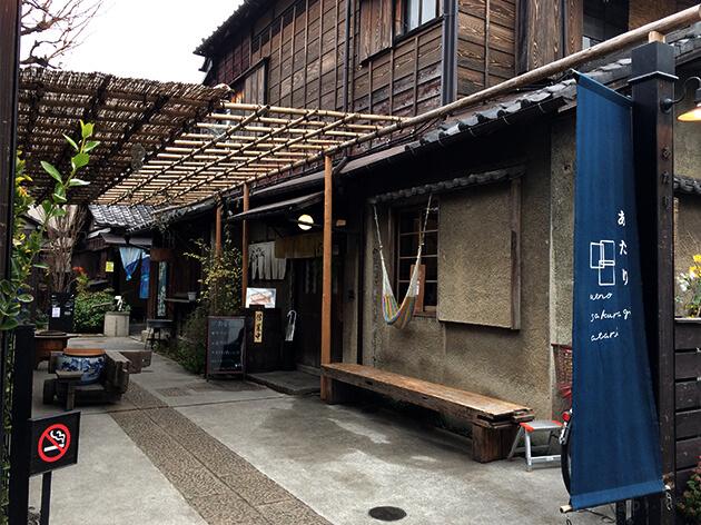 古民家を改装したカフェ 上野桜木あたりと谷中ビアホール