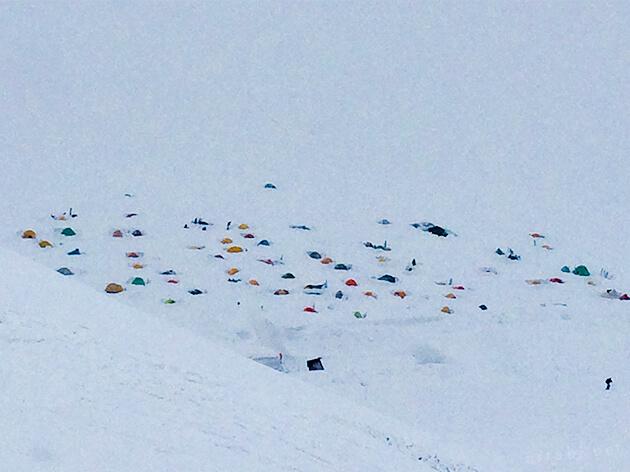 雷鳥沢キャンプ場でテント泊をする人もいる
