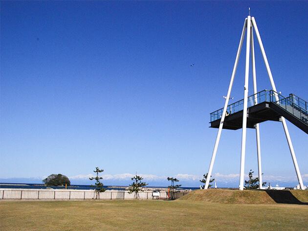 比美乃江公園と展望台
