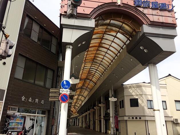 高岡の商店街の風景