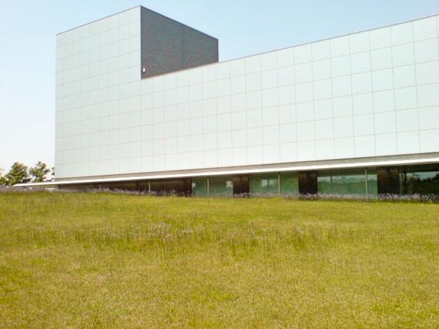 館林美術館の芝生の公園
