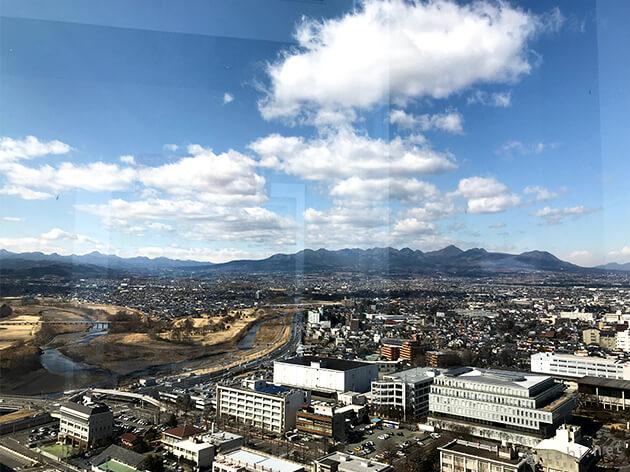 高崎市役所から望む赤城山