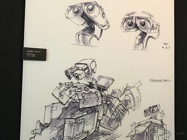 PIXARのひみつ展の展示風景