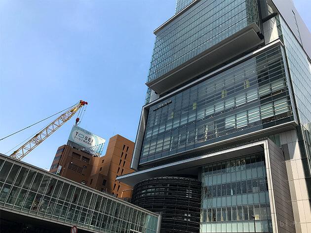 周辺では、建設工事が進む渋谷ヒカリエ