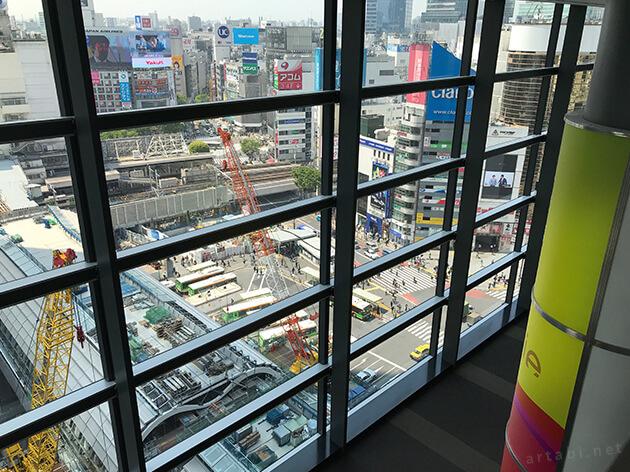 渋谷の大規模開発の風景