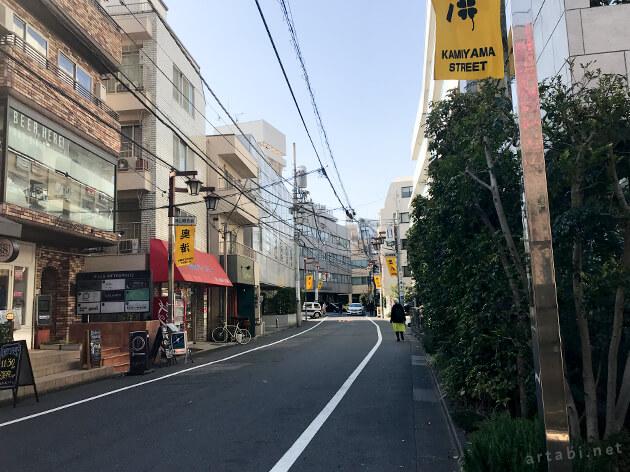 奥渋エリアの商店街