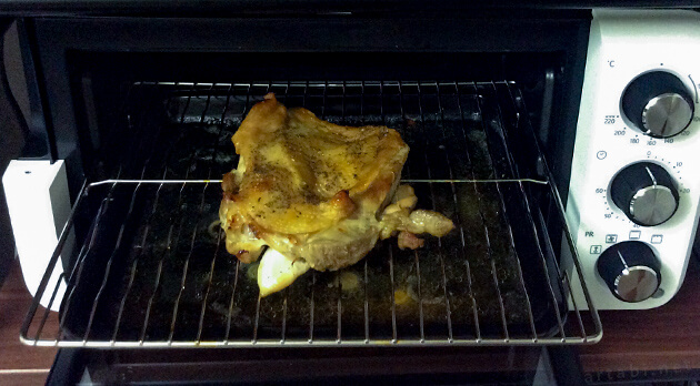 コンベクションオーブンで鳥モモ肉を焼いてみた