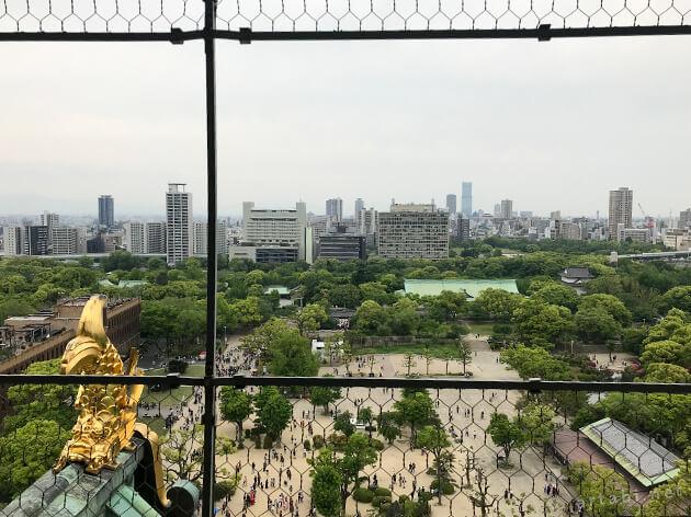 大阪城天守閣からの眺め