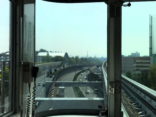 大阪モノレールに乗車